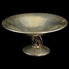 Sterling Silver Art Nouveau Floral Design Candy Dish Fine Silver   [QRXF]