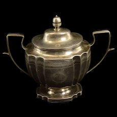 Sterling Silver Covered Monogrammed Ornate Container Fine Silver   [QRXF]