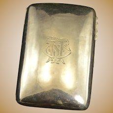 Sterling Silver Monogrammed J Gloster Ltd Cigarette Case Fine Silver   [QRXF]