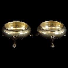 Sterling Silver Georg Jensen #1736 Footed Bowl Set Fine Silver   [QRXF]