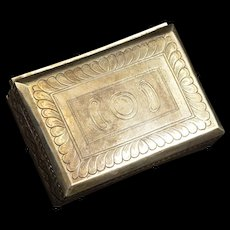 Sterling Silver Ornately Patterned Hinged Box Fine Silver   [QRXF]