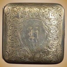 Sterling A W. H. Saart Co. Cigarette Case Fine Silver   [QRXF]