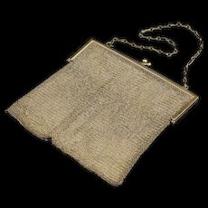 Sterling Mesh Design Purse Handbag Chain Fine Silver   [QRXF]