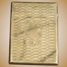 Sterling Ornate Monogrammable Patterned Match Case Fine Silver   [QRXF]