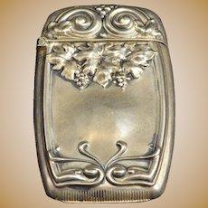Sterling Floral Ornate Design Match Case Fine Silver   [QRXF]