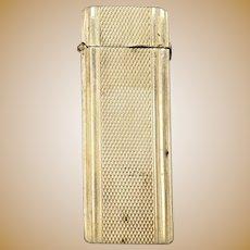 Sterling Patterned Vesta Case Match Case Box Fine Silver   [QRXF]