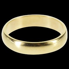 10K Classic Simple Rounded Wedding Band Ring Size 7 Yellow Gold [QWXF]
