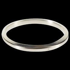 14K Squared Edge Classic Simple Wedding Band Ring Size 6 White Gold [QWXF]