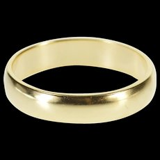 10K Rounded Classic Simple Wedding Band Ring Size 7 Yellow Gold [QWXF]