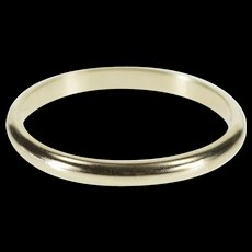 14K 2.0mm Classic Rounded Wedding Band Ring Size 6.5 White Gold [QWXF]