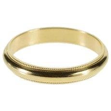 10K 3.1mm Classic Dot Milgrain Trim Wedding Band Ring Size 5 Yellow Gold [QWQC]