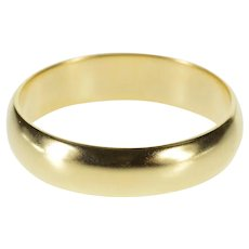 14K Plain Design Simple Rounded Wedding Band Ring Size 9.5 Yellow Gold [QRXK]
