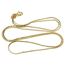 "14K 0.9mm Serpentine Fancy Pressed Link Chain Necklace 18.25"" Yellow Gold  [QWXT]"