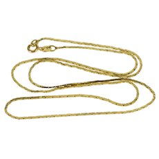 "14K 1.1mm Pressed Geometric Link Fancy Chain Necklace 18.25"" Yellow Gold  [QWXT]"