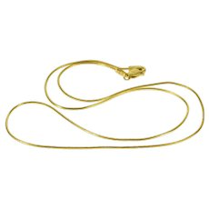 "14K 0.9mm Pressed Serpentine Link Fancy Chain Necklace 18.25"" Yellow Gold  [QWXK]"