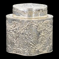 Sterling Silver Ornate Kissing Couple Container    [QWXK]