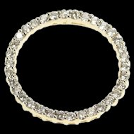 14K 1.02 Ctw Diamond Encrusted Ring Circle Loop Pendant Yellow Gold [QRXP]