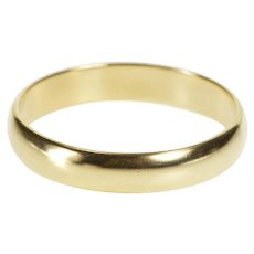14K Rounded Classic Simple Men's Wedding Band Ring Size 10.5 Yellow Gold [QWXP]
