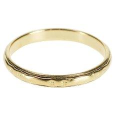 14K 3.1mm Art Deco Men's Ornate Wedding Band Ring Size 11 Yellow Gold [QWXW]