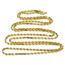 """14K 2.5mm Twist Rope Link Fashion Spiral Chain Necklace 30"""" Yellow Gold  [QWQQ]"""