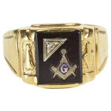 8071cc7f60d1a Ring Diamond Masonic Jewelry | Ruby Lane