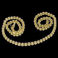 "18K 1.05 Ctw Diamond Round Link Ornate Design Necklace 17"" Yellow Gold [QRXP]"
