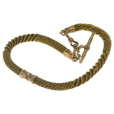 8.0mm Ornate Woven Mourning Jewelry Hair Watch Fob [QWXR]