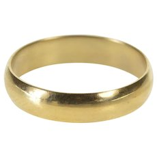 10K 4.3mm Rounded Simple Classic Wedding Band Ring Size 6 Yellow Gold [QWXR]