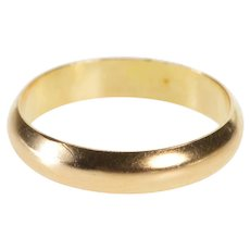 14K 2.7mm Rounded Simple Baby Child's Band Ring Size 0.5 Yellow Gold [QWQX]