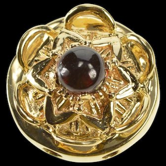 14K Garnet Sphere Crystal Ball Slide Bracelet Charm/Pendant Yellow Gold  [QWQQ]