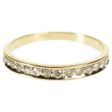 14K 0.15 Ctw Diamond Channel Inset Wedding Band Ring Size 7 Yellow Gold [QWQQ]