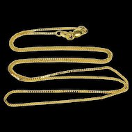 """10K 0.7mm Classic Box Link Square Chain Necklace 17.9"""" Yellow Gold [QRXP]"""
