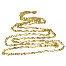 """14K 1.9mm Spiral Classic Curb Link Fancy Chain Necklace 20"""" Yellow Gold  [QWQQ]"""