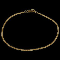 """14K 1.3mm Pressed Anchor Link Fancy Chain Bracelet 7.5"""" Yellow Gold  [QWQC]"""