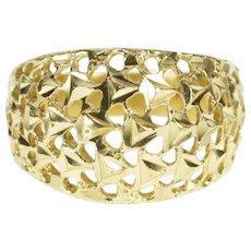 14K Graduated Lattice Filigree Rounded Fashion Ring Size 7 Yellow Gold [QWQC]