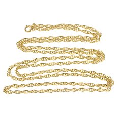 """14K 1.7mm Classic Twist Spiral Cable Fashion Chain Necklace 20"""" Yellow Gold  [QRXT]"""