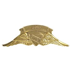 10K Aircraft Owners & Pilots Association Lapel Pin/Brooch Yellow Gold [QRQX]
