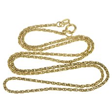 """14K 1.6mm Rounded Rope Twist Link Chain Necklace 18.5"""" Yellow Gold  [QRXK]"""