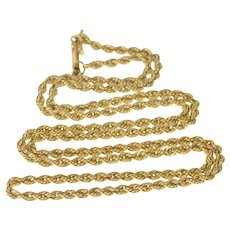 "14K 2.5mm Thick Classic Chain Rope Link Necklace 20.5"" Yellow Gold [QRXS]"