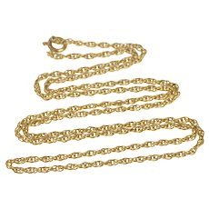 """14K 1.7mm Twist Cable Link Rolling Chain Necklace 18"""" Yellow Gold [QRQQ]"""