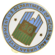 10K Department of Housing & UD Enamel Lapel Pin/Brooch Yellow Gold [QRQQ]