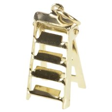 Gold Filled 3D Articulated Ladder Construction Tool Charm/Pendant  [QRQC]
