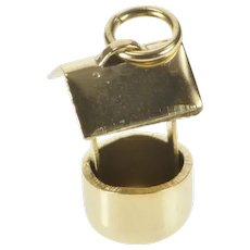 Gold Filled 3D Wishing Well Lucky Dream Symbol Charm/Pendant  [QRQC]