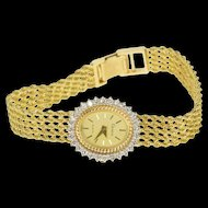 Oval Geneve Diamond Layered Rope Chain  Women's Watch [QRXW]