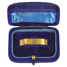 15K Diamond Inset Edwardian Scarf Clip Tie Bar Yellow Gold [CXXC]