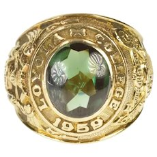10K Ornate Loyola College 1959 Class Ring Size 7.75 Yellow Gold [CXXC]