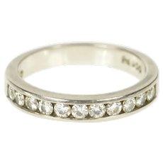Palladium 0.44 Ctw Diamond Classic Wedding Band Ring Size 5.25  [CXXT]