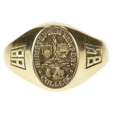 10K 1984 Christopher Newport College Class Ring Size 2.5 Yellow Gold [CXXT]