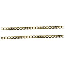 """18K 2.0mm Flat Anchor Link Fancy Oval Chain Necklace 23.75"""" Yellow Gold [QRQC]"""