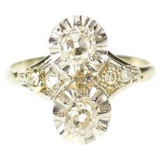 Platinum 0.88 Ctw Art Deco Ornate Diamond Engagement Ring Size 5  [CXXS]